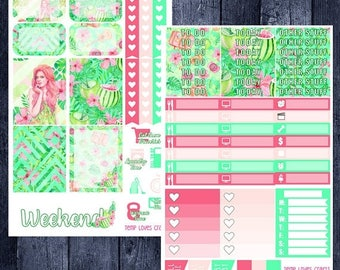 On Sale Tropical Vacation Kit for Erin Condren Life Planner Vertical Layout