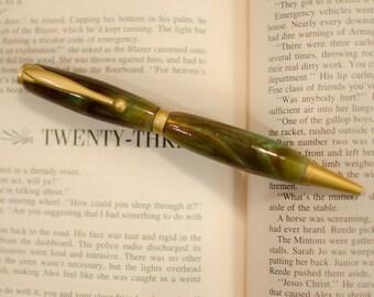 Fancy Pens, Fancy Pens for Men, SlimLine Pen, Pens, Resin Art, Hand Turned Pens, Copper Pen, Resin Pen, Writing Instruments, Writing Pens