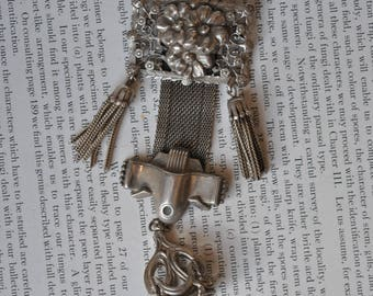 Vintage Fob Pin - 1950s Arts and Craft Style Tassel Fob Pin