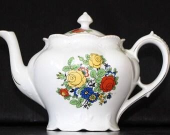 Vintage German Tea Pot / Teapot / Coffee Pot  / Kitchen Decor / Kitchenware /  Cottage Chic / Ceramic Teapot