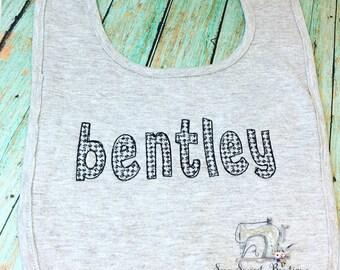 Personalized baby bib, name bib, baby gift, baby boy, baby shower gift