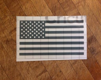 S.O. Decal. American flag decal