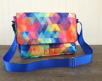 Custom Messenger Bag, Ipad messenger bag, Bag for Notebook, Crossbody messenger bag, Tablet case, Student satchel, College Student bag