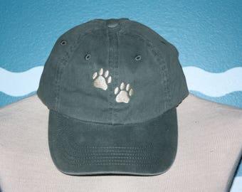 Custom Baseball Cap - Dog Paws embroidered baseball cap - Great custom gift - baseball hat embroidered - Gift under 20 Dollars