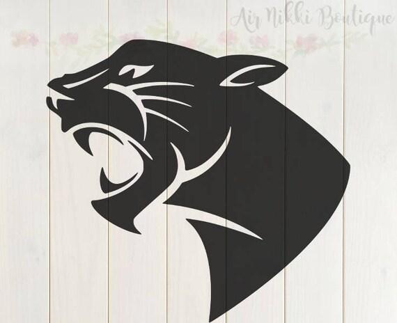 Black Panther Cat SVG PNG DXF files instant download
