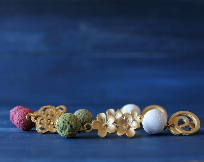 Lava stones earrings