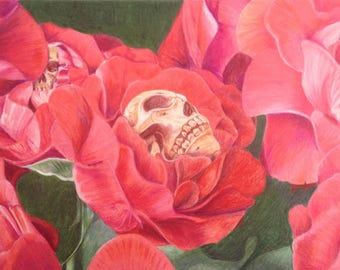 Roses digital art print on various materials and available in various sizes