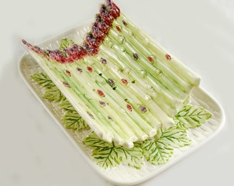 Vintage antique French asparagus dish