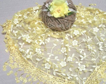 Newborn girl lace fringe yellow wrap lace wrap and headband set baby  props newborn photography props