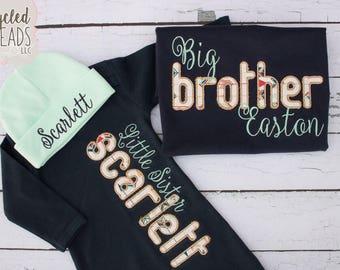 Big Brother Little Sister Set, Big Sister Set, Little Brother Shirt, Baby Shower Gift, Big Brother Set, Big Sister Little Sister Set