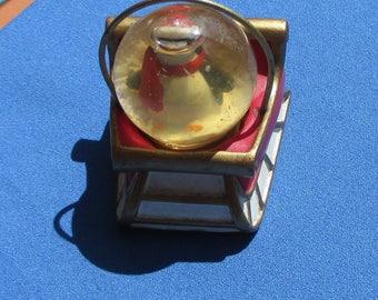 Retro Penguin Sleigh Small Snow Globe