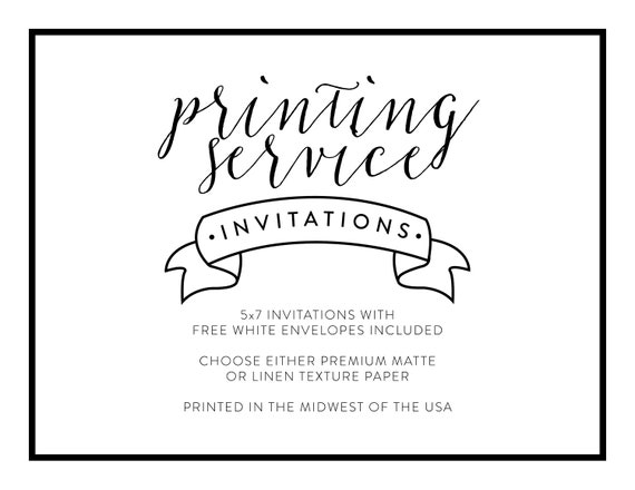 invitation printing services printed birthday invite printed