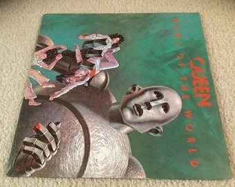 Queen news of the World Vinyl Record LP Album Freddy mercury