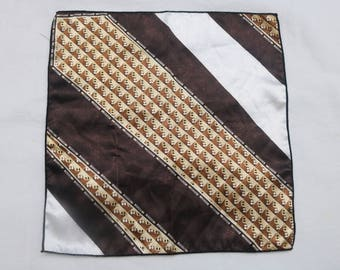 """90's Vintage """"STANLEY"""" Abstract Patterned Pocket Square"""