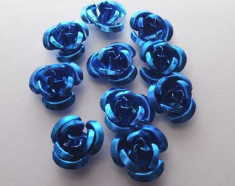 Flower-tone Blue 9mm by 10 PIECES