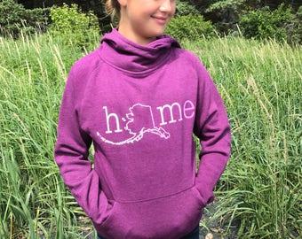 Alaska home 3 button hoodie velvet