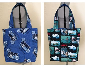 Jaws Reversible Tote Bag