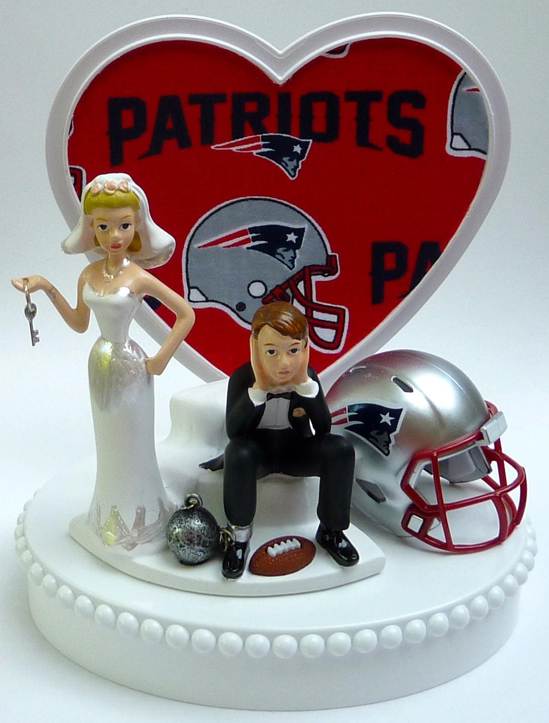 wedding cakes new england wedding cake topper new patriots pats football themed 25077