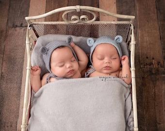 newborn bear hat, newborn bear bonnet, baby boy prop hat, baby bear bonnet, photography prop hat, newborn prop hat, boys photo prop