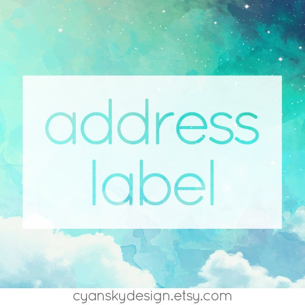 This is an image of Modest Vistaprint Return Address Labels