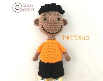 CROCHET PATTERN - Franklin from the Peanuts Crochet Amigurumi - pdf only