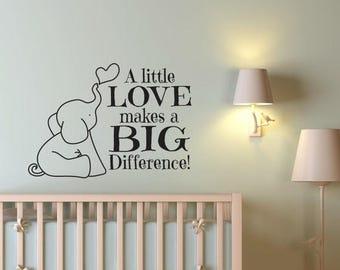 CLEARANCE SALE Nursery Decor - Elephant Nursery Decor - Elephant Wall Decal - Nursery Wall Decal - Nursery Wall Decor - Baby Boy Decor - Bab