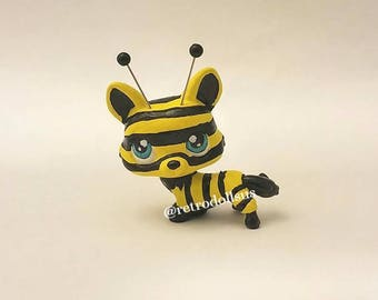 "Littlest Pet Shop Toy - Custom OOAK LPS ""Corbee"" Corgi Dog Bee"