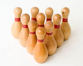 Wooden Bowling Pin Trophies