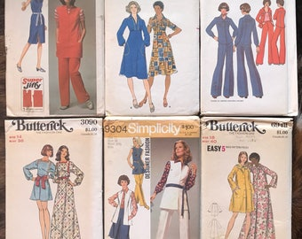 SALE LOT of Six 60s & 70s Butterick and Simplicity Sewing Patterns