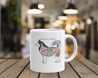 Anatomy of an Alaskan Malamute - Funny Alaskan Malamute Dog Coffee Mug