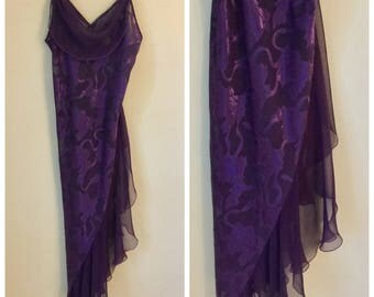 Vintage Victoria's Secret 90's purple Silk Nightie