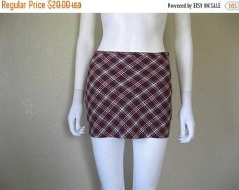 25% off SALE Plaid Micro Mini Skirt