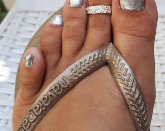 Silver Toe Ring, Silver Knuckle Ring, Silver Adjustable Ring, Leaves Toe Ring, Open Silver Toe Ring, Textured Toe Ring, Unique Toe Ring