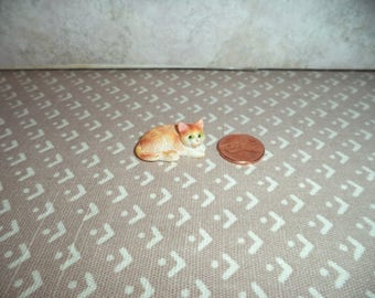 1:12 scale Dollhouse Miniature Orange Tabby
