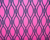 "Hot Pink Geometric Print #568 4 Way Stretch Swimwear Activewear Cosplay Nylon Spandex Lycra Craft Fabric 58""-60"" Wide By The Yard"