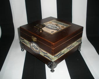 Cigar Box Valet, Watch Box, Stash Box, Jewelry Box, Memory Box, Gun Box, Authentic, Tampa, Perla del Mar
