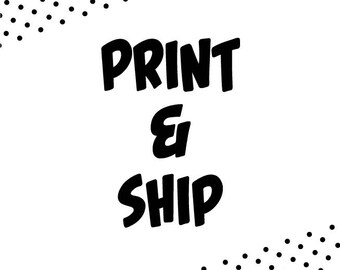 Choose any item from Wall Art section, we print and ship it to you!