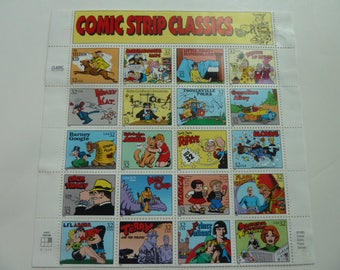 Unused Postage Stamps - Comic Strips Stamps for Postage or for Scrapbooking, Jewelry, Decoupage, Paper Crafts, Collage and More...