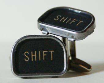 Antique Typewriter Key Cufflinks SHIFT Key FREE Gift Bag