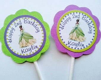 Tiana,The Princess and the Frog Cupcake Toppers