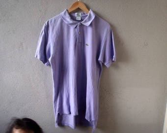 Vintage 90s IZOD LACOSTE Polo Shirt Ringer L Made in usa