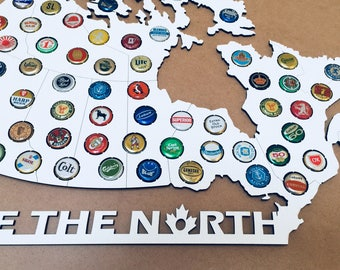 Canada Beer Caps Map | LaserCut Map of Canada for Beer Caps