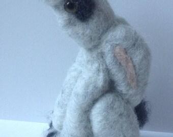 Grey Moon gazing hare