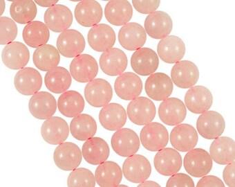 10 x 4mm ROSE QUARTZ round beads