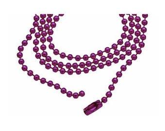 Ball chain / ball fine PLUM 60cm