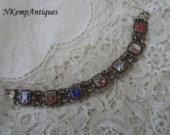 French enamel bracelet