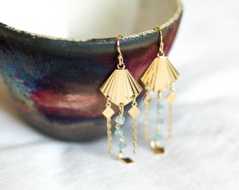 Ora earrings gilded with fine gold