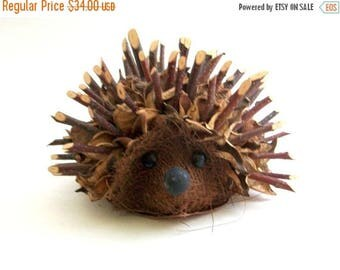 CLEARANCE Vintage Hedgehog, Twig Hedgehog, Handmade Hedgehog, Hedgehog, Twig Bench, Handmade Art, Vintage Art, Hedgehog Art, Vintage Housewa
