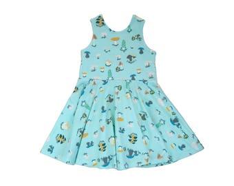 Toadstool Skies Tank Mini Twirl Dress