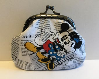 Mickey and Minnie Mouse Coin Purse